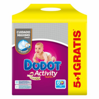 Toallitas DODOT-ACTIVITY pack 6x54 ud.