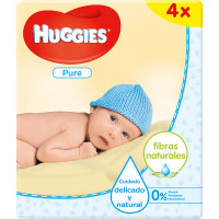HUGGIES Pure toallitas infantiles pack 4 envases 56 unidades